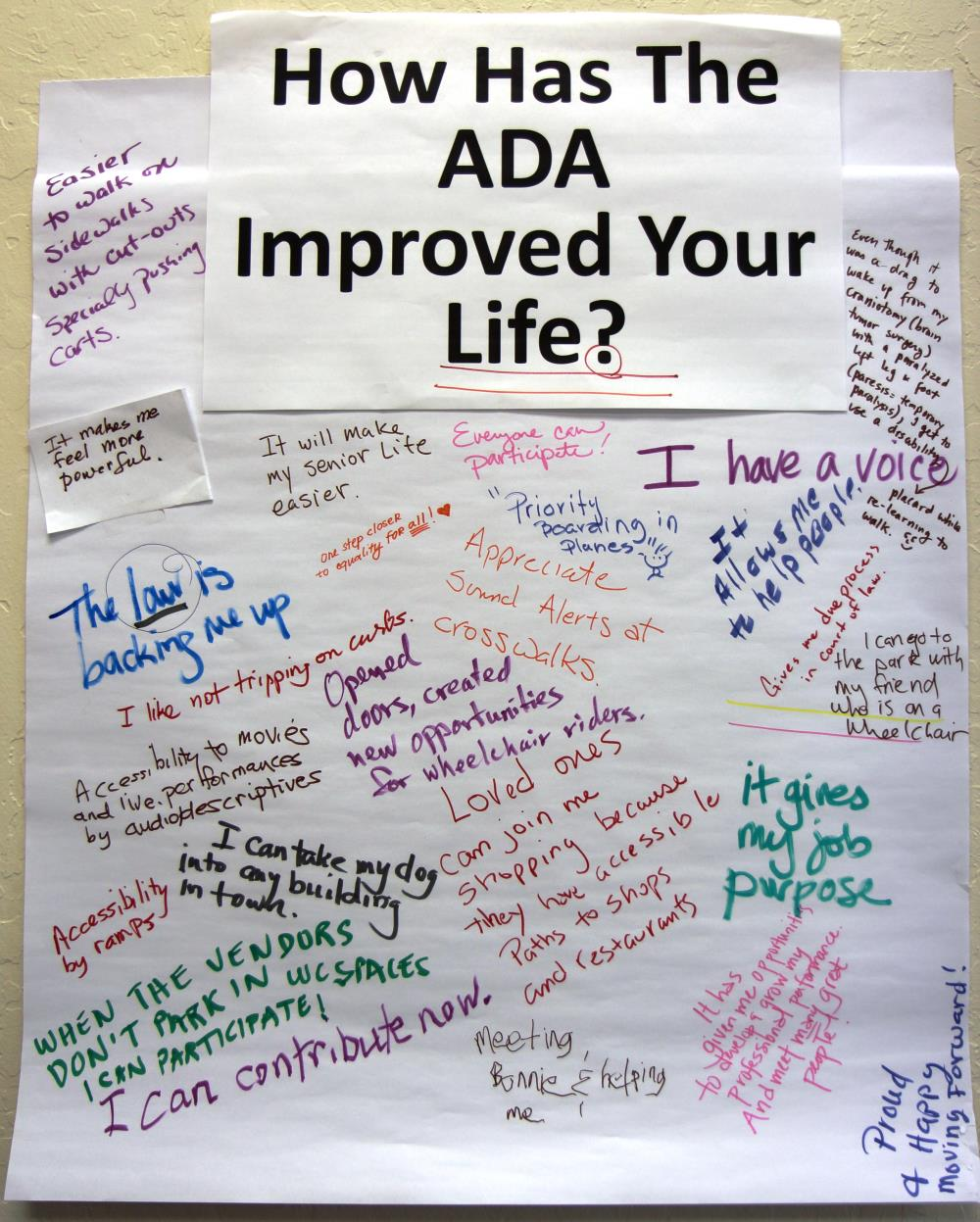 How Has the ADA Improved Your Life Poster