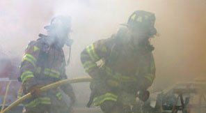 Fire-Fighters in Smoke