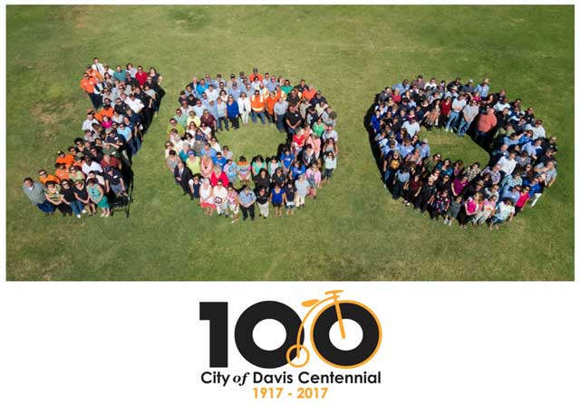 2017 Centennial Photo of City of Davis Staff