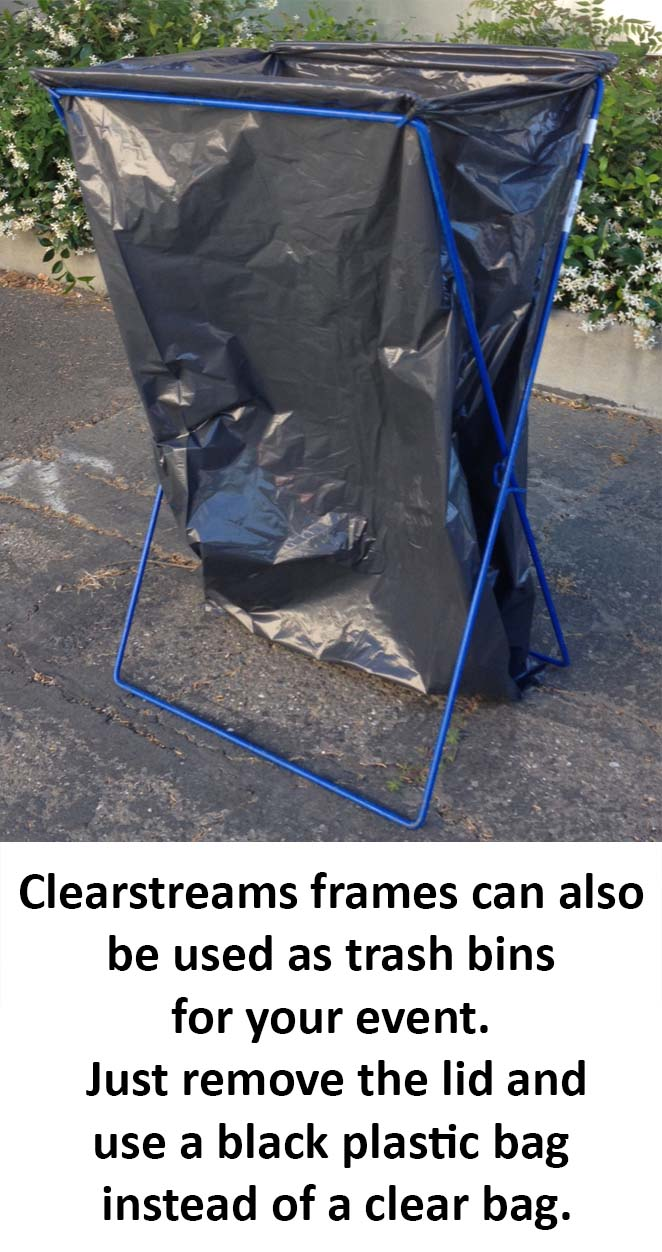 clearstream frames as trash bins