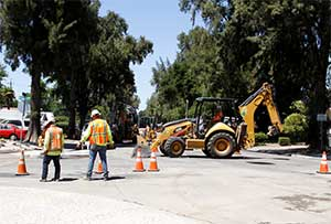 Road work on L Street
