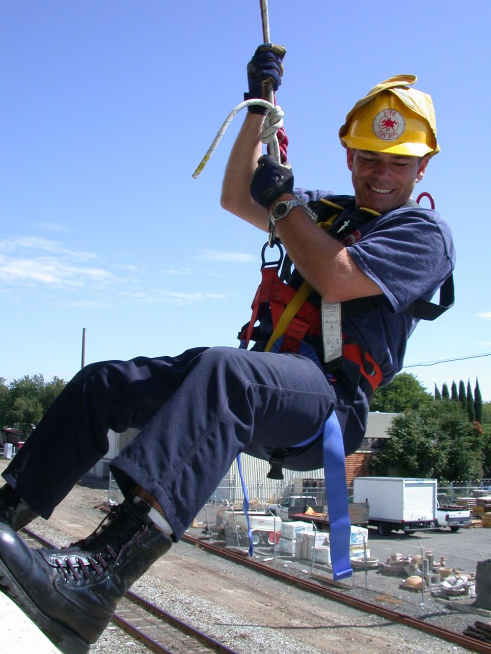 Firefighter Repelling