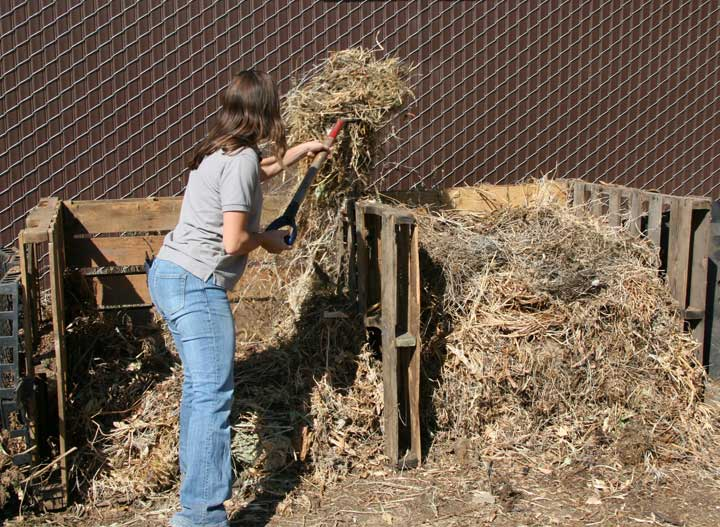 turning-compost-pile