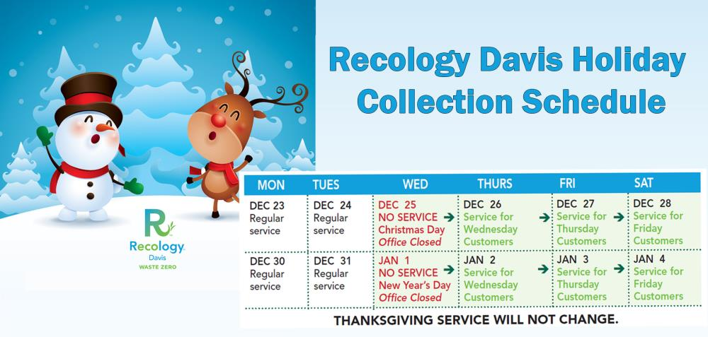 Recology Holiday Schedule rotate image